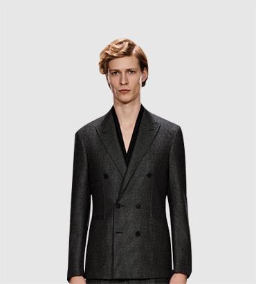 羊毛-羊绒暗门襟大衣