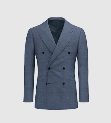 灰蓝色西服