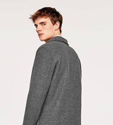 羊毛-羊绒短大衣