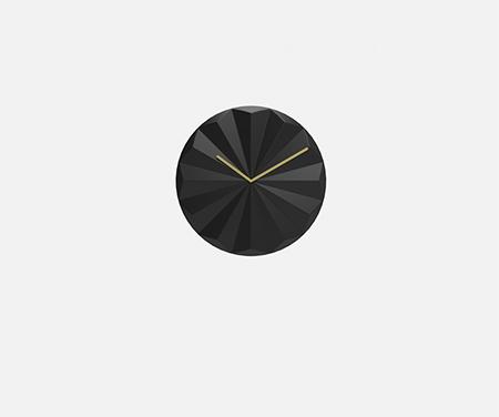 简易多边形钟表(黑色)
